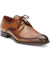Mezlan Fontana Perforated Leather Laceup Shoes - Lyst