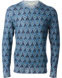 Marc Jacobs Feather Print Sweater - Lyst