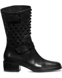 Michael Kors Bryn Studded Leather Boot - Lyst