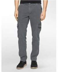 Calvin Klein Jeans Tapered Leg Petrol Wash Jeans - Lyst