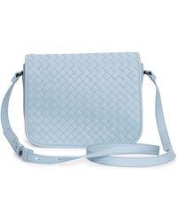 Bottega Veneta Small Woven Flap Crossbody Bag - Lyst