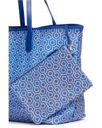 Mischa - 'jet Set Tote' In Gradient Seigaiha Wave Hexagon Print - Lyst