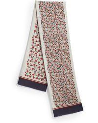 Gucci Floral Silk Twill Scarf - Lyst