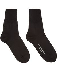 Comme des Garçons - Black Logo Ankle Socks - Lyst