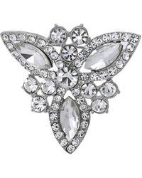 Oasis - Crystal Snowflake Brooch - Lyst
