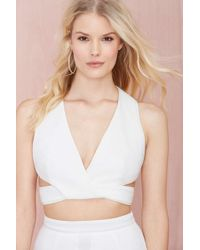 Nasty Gal Keepsake Lonely Lover Cut Out Crop Top - Lyst