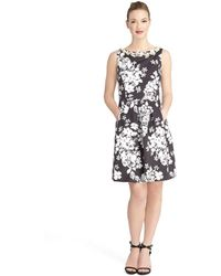 Tahari Petite Floral Fit and Flare Dress - Lyst