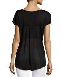 F.t.b By Fade To Blue - V-neck Rolled-cuff Tee - Lyst