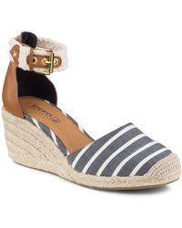 Sperry Top-Sider - Espadrille Wedge Sandals - Valencia Striped - Lyst