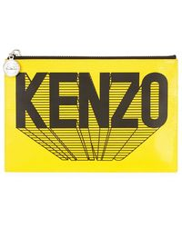Kenzo Logo Leather Pouch - Lyst