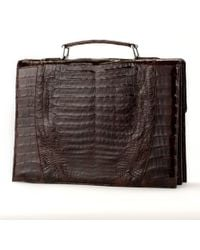 Anne Sisteron - Crocodile Briefcase - Brown Glazed - Lyst