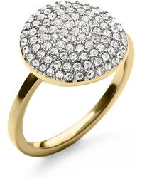Michael Kors Pave Disc Ring - Lyst
