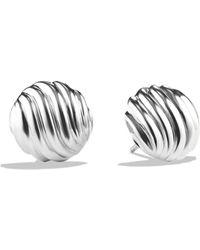 David Yurman Sculpted Cable Earrings silver - Lyst