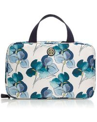 Tory Burch Printed Hanging Zip Cosmetic Case - Lyst