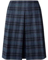 Jigsaw - Check Pleat Skirt - Lyst