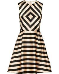 Jill Stuart Linda Printed Satin Dress - Lyst