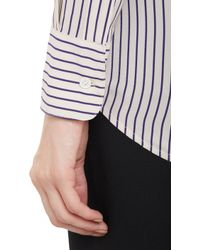 Band of Outsiders - Stripe Silk Oversize Shirt - Lyst