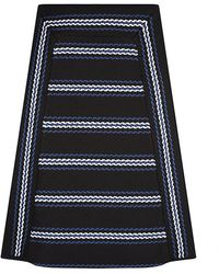 Chloé Textured Stripe Skirt - Lyst