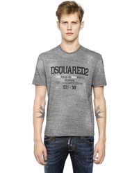 DSquared² Logo Printed Cotton T-Shirt - Lyst