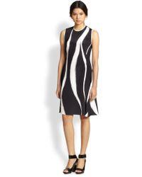3.1 Phillip Lim Animal-Print Silk Dress - Lyst