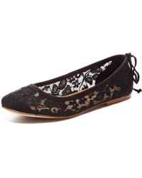 Soludos Chantilly Lace Ballet Flat black - Lyst