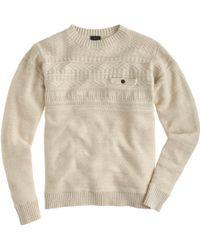 J.Crew Tall Rustic Cotton Fisherman Sweater white - Lyst