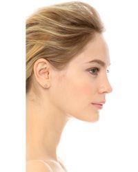 Tai - Mini Hamsa Earrings - Silver/clear - Lyst