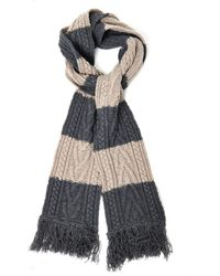 Marc Jacobs Bicolour Striped Cableknit Scarf - Lyst