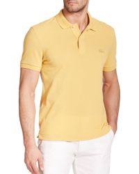 Lacoste Reflective Croc PiquÉ Polo yellow - Lyst