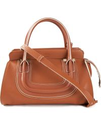Chloé Everston Calf-Leather Tote - Lyst