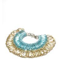 Kirsty Ward - Alu Loops & Brass Rings Bracelet - Lyst