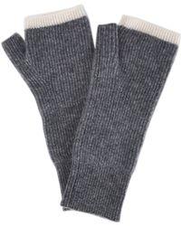Duffy - Dark Grey Fingerless Cashmere Gloves - Lyst