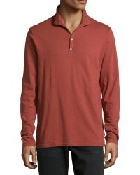 Ag Adriano Goldschmied Funnel Neck Jersey Shirt - Lyst