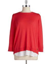 Calvin Klein 2Fer Pullover Sweater - Lyst