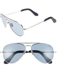 b3ee70632682 Randolph Engineering - 'concorde' 57mm Aviator Sunglasses - Platinum/ Blue  Gray - Lyst