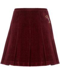 Shrimps - Scotty Kilt Pleated Corduroy Wrap Skirt - Lyst
