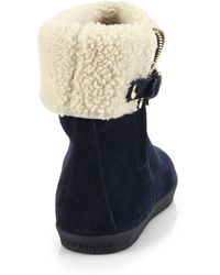 Burberry Stanleigh Shearling Ankle Boots - Lyst
