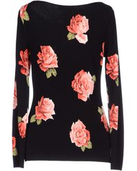 Blumarine Lace and Roses Knitted Top multicolor - Lyst