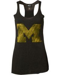MYU Apparel - Women'S Michigan Wolverines Vintage Logo Tank - Lyst