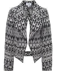 10 Crosby Derek Lam Woven Tweed Cropped Jacket - Lyst