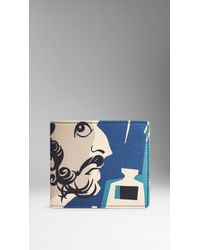 Burberry The Writer Print Leather Folding Wallet - Lyst