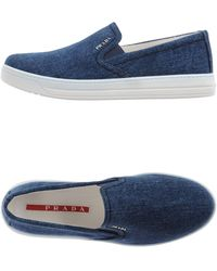 Prada Sport Low-Tops & Trainers blue - Lyst