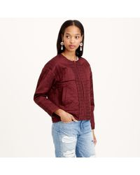 J.Crew Collection Quilted Sateen Jacket - Lyst