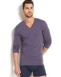 Calvin Klein Mens Logo V-neck T-shirt - Lyst