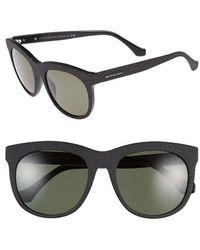 Balenciaga 54Mm Textured Sunglasses - Opal Black/ Green Lenses black - Lyst