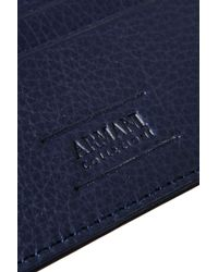 Armani - Card Holder In Tumbled Leather - Lyst