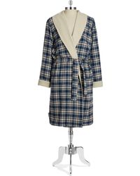 Ugg Blue Plaid Robe - Lyst