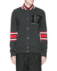 Givenchy | '17' Wool Bomber Jacket | Lyst