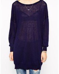 Selected Ella Fine Knit Sweater - Lyst
