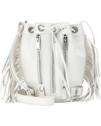 Saint Laurent Fringed Leather Bucket Bag - Lyst